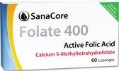 SanaCore Folaat 400 Calcium - Actieve Foliumzuur (5-MTHF) - 60 zuigtabletten