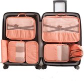 Packing Cubes - 7 Delige - Koffer Organizer Set - Premium Kwaliteit - Oranje Roze