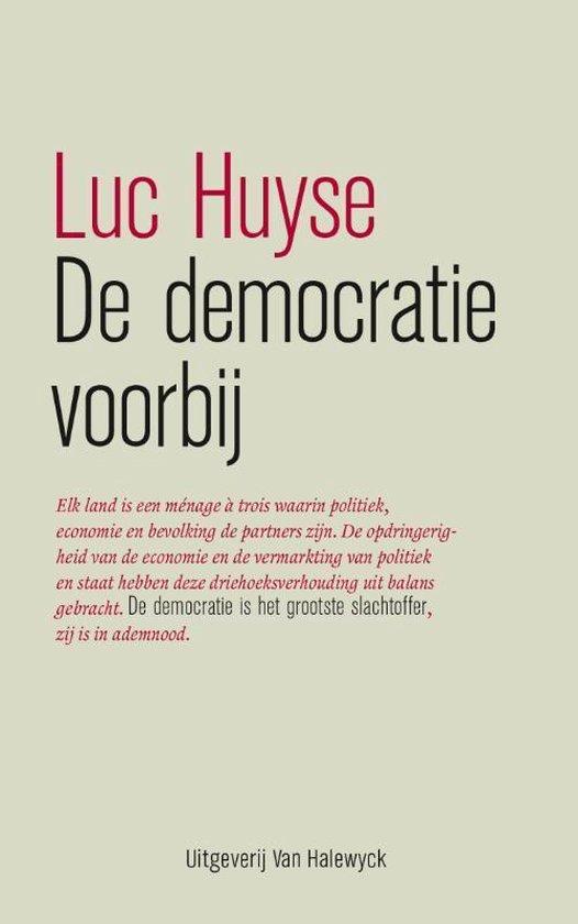 Boek cover De democratie voorbij van Luc Huyse