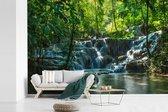 Jungle waterval in Palenque Mexico fotobehang vinyl 420x280 cm - Foto print op behang
