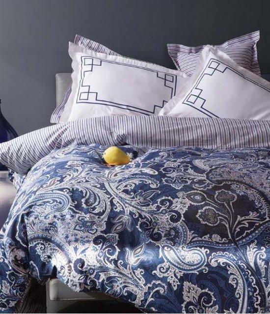 Dekbedovertrek Emma lits jumeaux marine blauw | Karaca Home