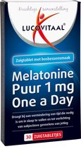 Lucovitaal Melatonine Puur 1 mg One A Day Voedingssupplement - 30 zuigtabletten