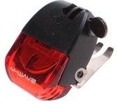 M-wave Remlicht Helios Led Batterij 4 Cm Zwart/rood