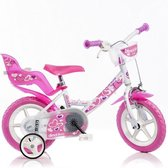 Dino Bikes Little Heart fiets 12 inch met handrem