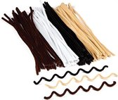 Voordelpakket pijpenragers in natuurlijke kleuren - beige - creatieve hobbymateriaal voor kinderen - ideaal voor scrapbooking decoraties en modelbouw (100 stuks per verpakking)