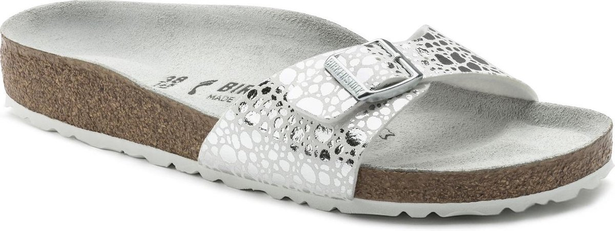 Birkenstock Slippers Dames Madrid - 1008802  Silver - Birkenstock