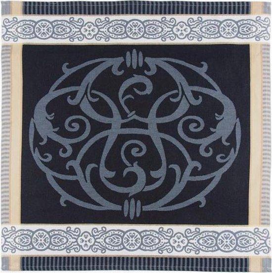 Viré Kitchen Ornament Theedoek (6 Stuks) - 60x60 cm - Zwart