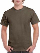 Olijfgroen katoenen shirt voor volwassenen L (40/52)