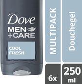 Dove Men Cool Fresh Douchegel - 6 x 250ml - Voordeelverpakking