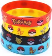 4 Pokémon Go polsbandjes van gel - Set van 4 stuks - Polsbandje rubber - Silicone polsbandje - Setje armbandjes - Siliconen