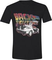 Back To The Future Classic logo Heren T-shirt XXL