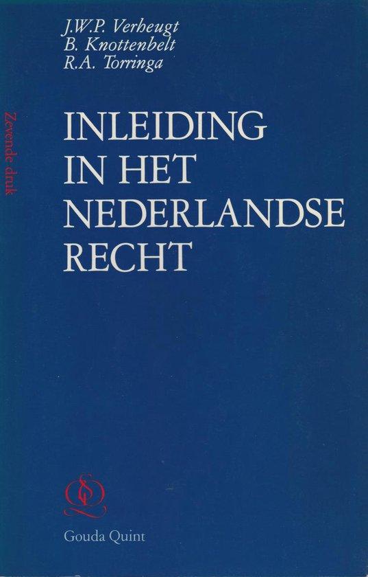 Inleiding in het nederlandse recht - Verheugt |
