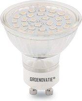 Groenovatie LED Spot GU10 Fitting - 3W - SMD - 52x50 mm - Dimbaar - Warm Wit