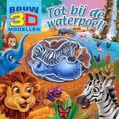 Kinderboeken Rebo Dierentuin - Bouw 3D modellen: Tot bij de waterpoel! 4+