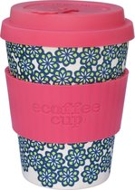 Ecoffee Cup Like, Totally! - Bamboe Beker - 350 ml - met Roze Siliconen