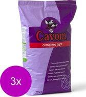 Cavom compleet light hondenvoer 3x 20 kg