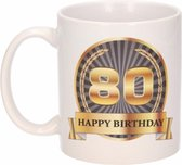 Luxe verjaardag mok / beker 80 jaar