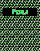 120 Page Handwriting Practice Book with Green Alien Cover Perla