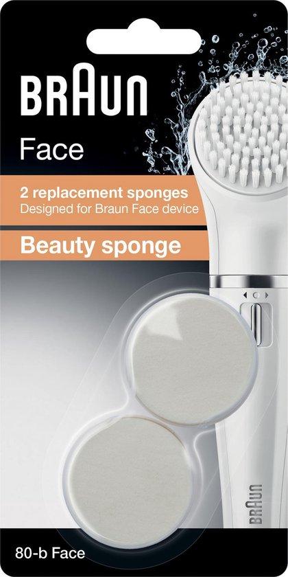 Braun Face 80-b - 2 stuks - Vervangende Beauty-sponzen