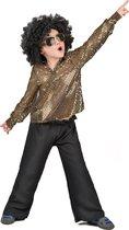 LUCIDA - Glitter disco pak voor jongens - L 128/140 (10-12 jaar) - Kinderkostuums