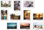 Beschrijfbare magnetische fotolijst - foto 10x13 cm - wit - 10 stuks - met whiteboard stift