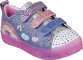 Skechers Shuffle Brights Rainbow Glow Meisjes Sneakers - Denim Multi - Maat 33