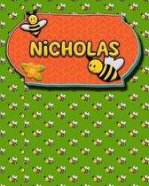 Handwriting Practice 120 Page Honey Bee Book Nicholas