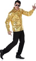 Gouden disco blouse voor mannen - Volwassenen kostuums