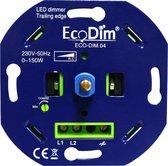 Basic LED Dimmer Inbouw - Fase Afsnijding, 0-150W, Druk- draai schakelaar, Draaidimmer voor LED Lampen, 100% Stil – EcoDim.04