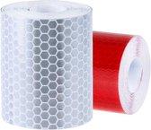 Reflecterende tape - rood - wit - 3cm x 500cm