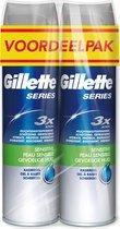 Gillette Series Gevoelige Huid Scheergel 2x200 ml