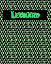 120 Page Handwriting Practice Book with Green Alien Cover Leonard