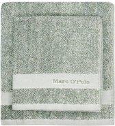 Marc O'Polo Melange  Badhanddoek - 70x140 - Green/off white