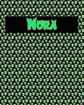 120 Page Handwriting Practice Book with Green Alien Cover Nora