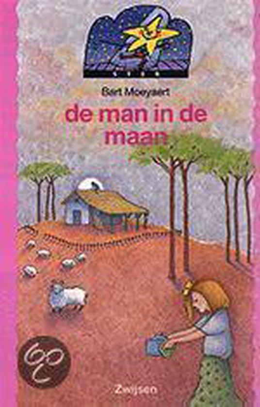 Cover van het boek 'De man in de maan' van Bart Moeyaert