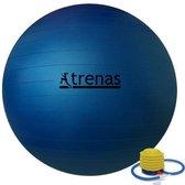 Trenas - Fitnessbal - incl. Pompje - Ø 75 cm - Blauw - 450 kg belastbaar