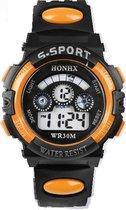 HONHX S-Sport - Horloge - 44 mm - Kunststof - Zwart/Oranje