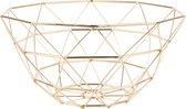 Basket Diamond Cut iron gold plated