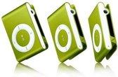 Mini MP3 Speler / Met In-Ear Koptelefoon en Datakabel - Groen