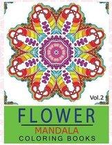 Flower Mandala Coloring Books Volume 2