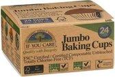 If you care Bak cups Jumbo 24 stuks - Bruin