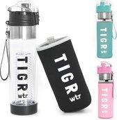 TIGR The Infuser - Drinkfles met fruitfilter - 100% BPA vrij - 700ML - Zwart