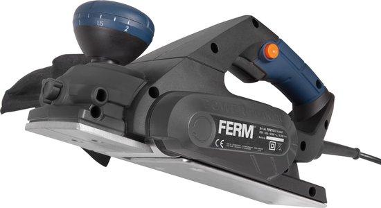 FERM Schaafmachine – 650W – Omkeerbare messen, 8 schaafdieptes – Incl. parallelgeleider & opvangzak