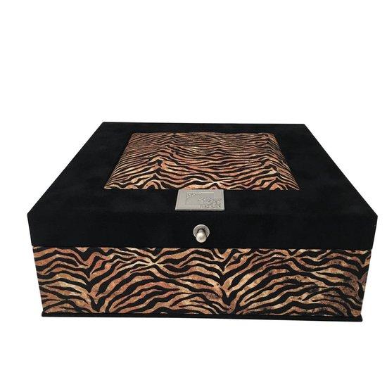 The Box For Tea  Jungle Theedoos - 9 vakken  - Zwart - The Box For Tea