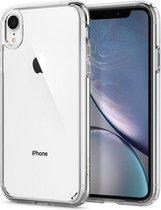 iPhone XR Hoesje met Gratis Tempered Glass Screenprotector - Transparant