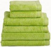 Douchelaken 70x140 cm uni imperial luxury hotelkwaliteit groen - 3 stuks