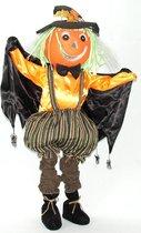 Vogelverschrikker pompoen 100 cm met licht en geluid - feestdecoratievoorwerp - Halloween