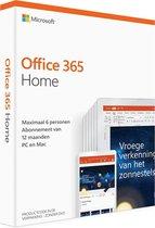 Microsoft Office 365 Home - 1 jaar (code in doosje)