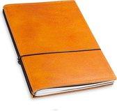 X17 Notebook A5 Leder Natur Cognac - 2 katernen