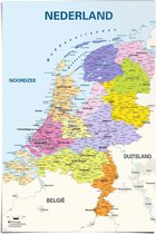 Poster Kaart van Nederland - 2019